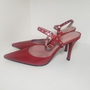 Shoes - 🍍Nine West Leather Red high heels